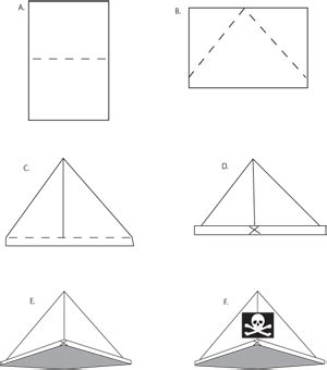 How Do You Make A Paper Pirate Hat - pirate hat craft activity