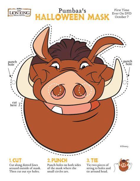 printable warthog mask dfr mask pumba jpg 612 215 792 pixels aula de 3 a 209 os