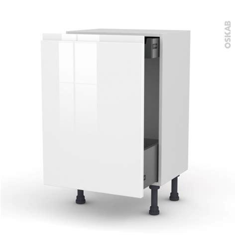 meuble de cuisine blanc brillant meuble de cuisine bas coulissant ipoma blanc brillant 1