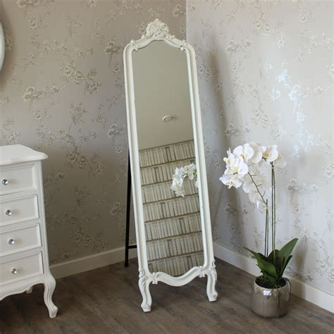 shabby chic length mirror floor length ornate cheval mirror shabby chic