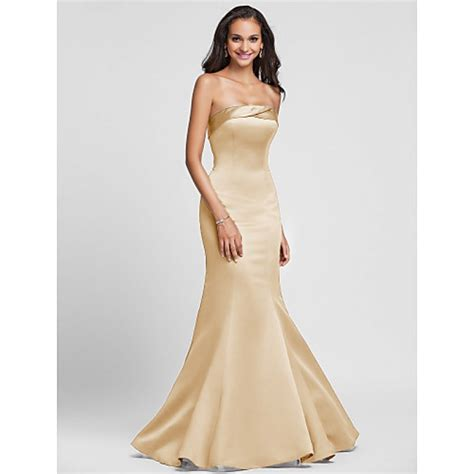 Strapless Floor Length Dress by Lace Up Mermaid Floor Length Brown Formal Dresses Strapless Dress