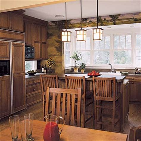 craftsman kitchen lighting into the woods editors picks our favorite wood tone