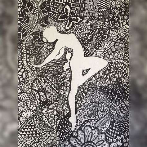 imagenes zentangle ballerina drawing zentangle art on behance