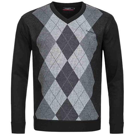 diamond pattern golf jumper pierre cardin herren sweatshirt karo golf pullover rauten