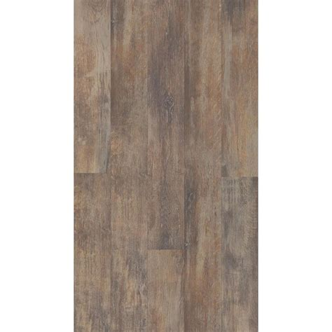 plank laminate flooring shop style selections 5 43 in w x 3 976 ft l spalted woodbark wirebrushed wood plank laminate