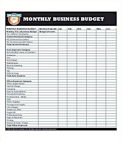Budget Template Open Office
