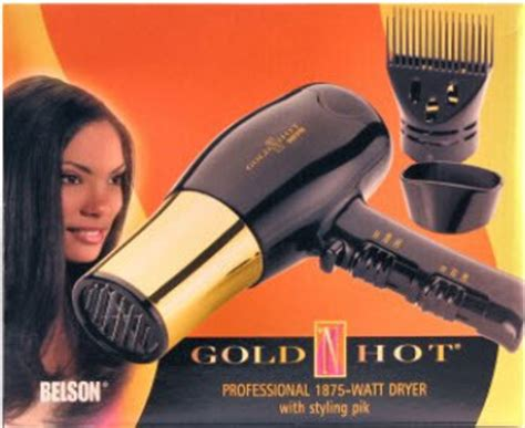 black n gold hair dryer gold n hot professional 1875 watt hair dryer with pick