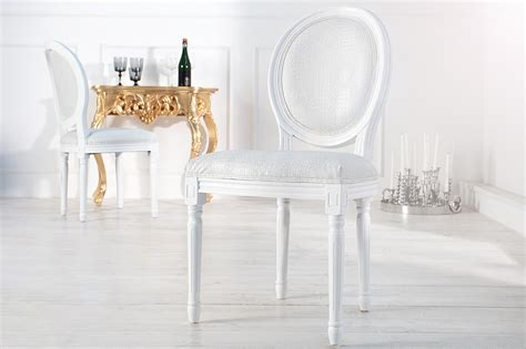 chaise baroque blanche chaise baroque blanche style croco m 233 daillon