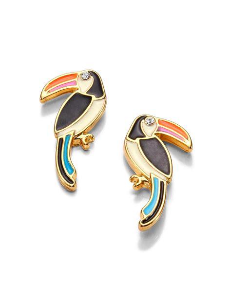 Kate Spade Earing 0oru1624 lyst kate spade new york for the birds enamel toucan earrings