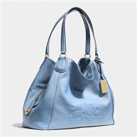 Coach Emboss coach embossed and carriage edie shoulder bag in