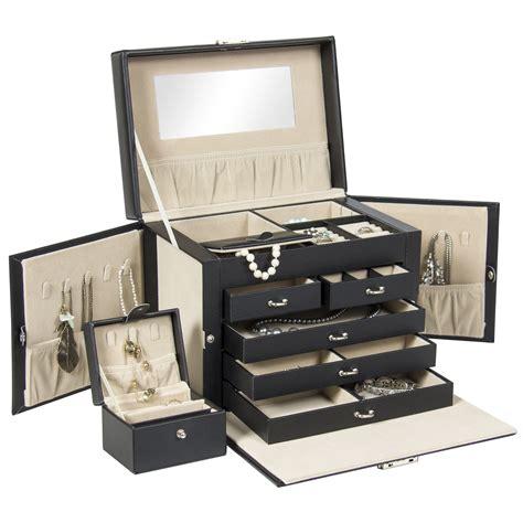 jewelry box supplies best choice products leather jewelry box organizer storage