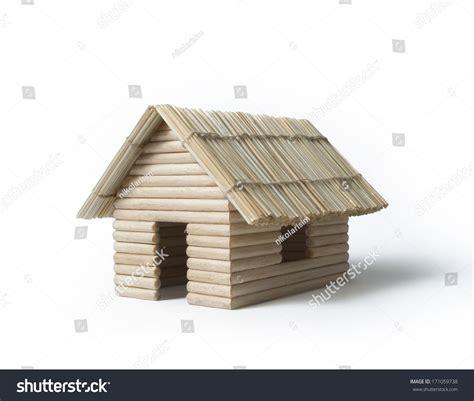 toothpick house tiny house model made toothpicks dry stock photo 171059738