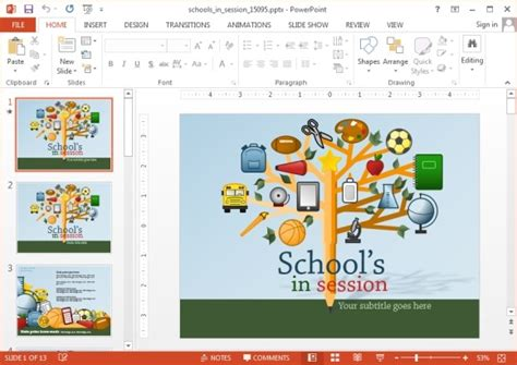 powerpoint themes education free animated school powerpoint templates