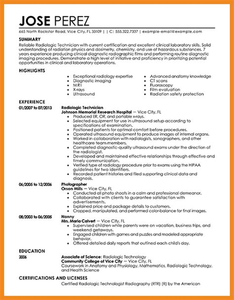 sonographer resume sle ultrasound resume exles exles of resumes