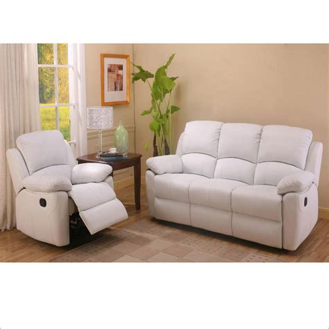 White Leather Recliner Sofa Set White Leather Recliner Sofa Set Infosofa Co