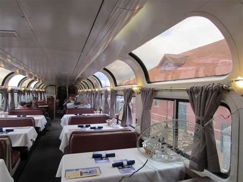 Amtrak's Pacific Parlor Car on the Coast Starlight, March 2012   this is the dining half of the