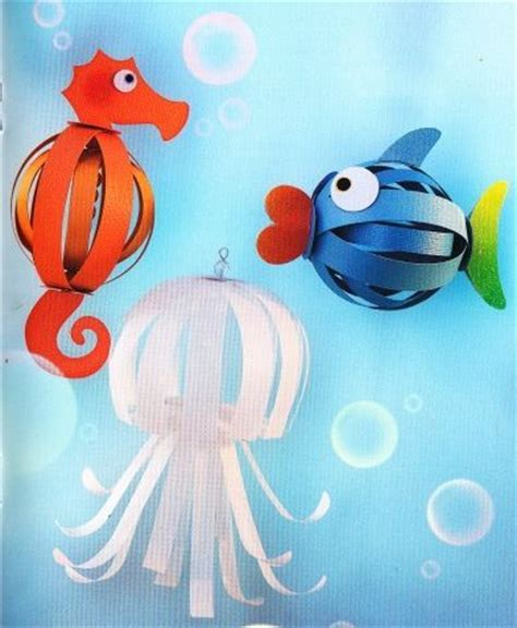 How To Make A Fish Out Of A Paper Plate - poissons papier crafts lanternes en papier