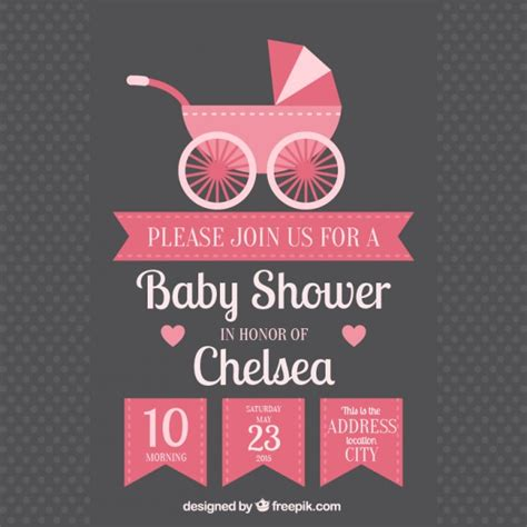 invite baby shower vector stroller vectors photos and psd files free download