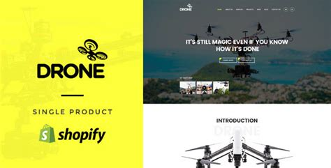 shopify themes for single product drone single product shopify theme traclaborat