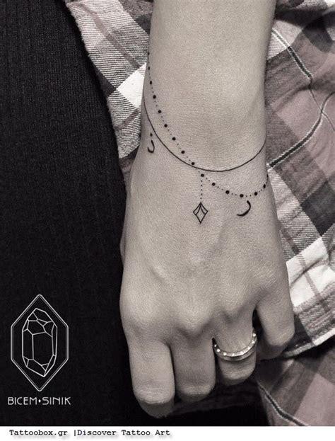 γυναικεία τατουάζ τατουάζ βραχιόλι στον καρπό αλυσίδα