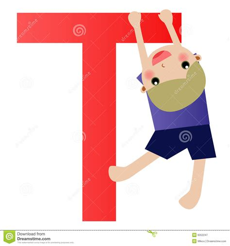 Letter For Boy Alphabet Letter T Boy Royalty Free Stock Photography Image 6052247