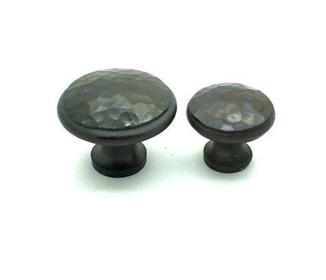 Iron Drawer Knobs by Forged Hammered Knobs Beaten Cupboard Drawer Door