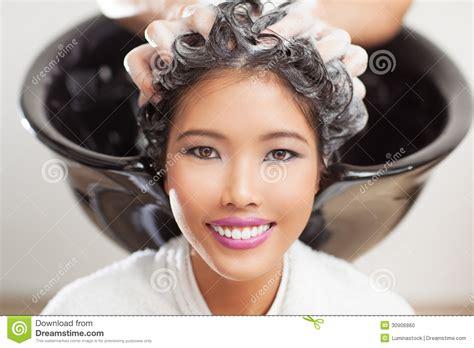 Japanese Hair Dresser by Hair Washing Stock Photo Image 30906860