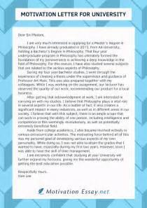 best motivation letter for admission writing