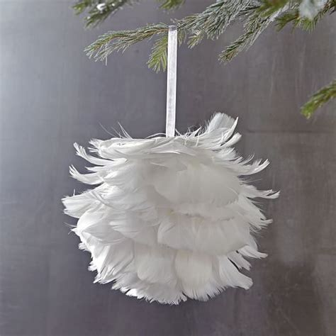 feather ball ornament west elm