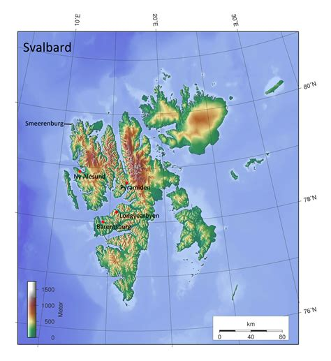 europe elevation map detailed elevation map of svalbard svalbard europe