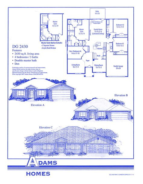 adams homes plans huntington adams homes