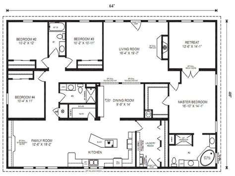 modular floor modular ranch floor plan designs modular home floor plans