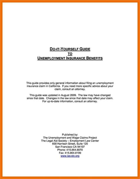 free unemployment appeal letter template free unemployment appeal letter template