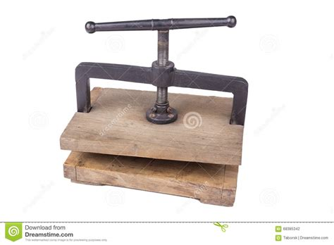 Style It In The Press by Vintage Paper Press Stock Photo Image Of Craft Retro