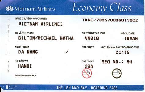 vietnam airlines plane ticket flickr photo sharing