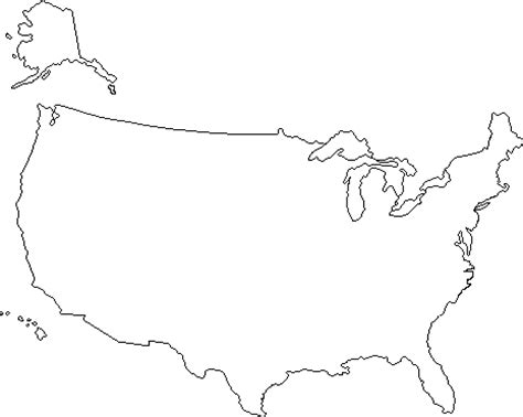blank us map including alaska and hawaii house of hugs u s map coloring page