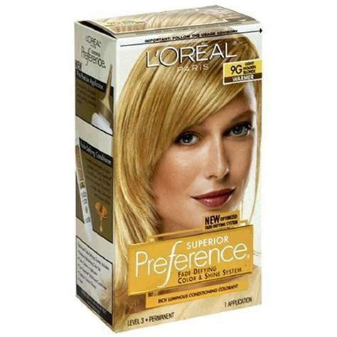 loreal preference hair color chart loreal superior preference hair color 9g light golden
