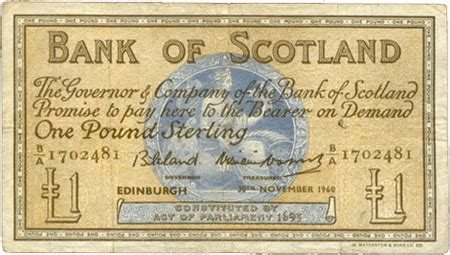 bank of scotland de emisiones bank of scotland de 1 libra de 1947 vs 1960