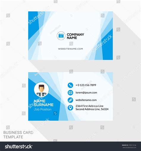 business card and letterhead vector creative business card vector template flat stock vector