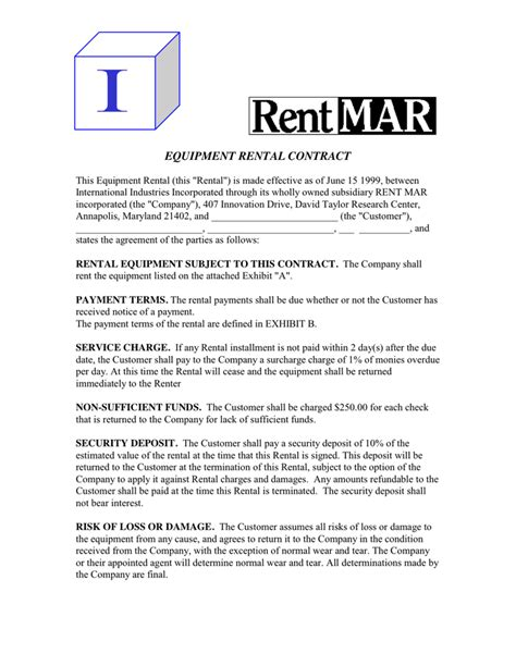doc 696900 product rental agreement template 13