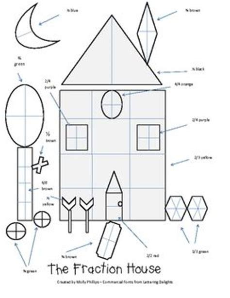 decimal house coloring fraction worksheets fraction denominators