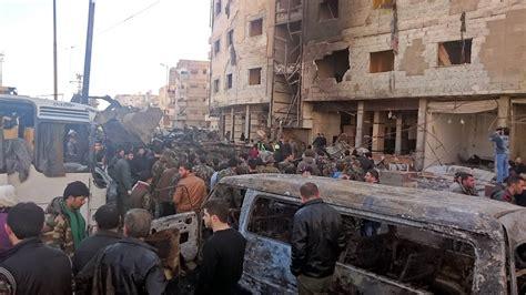 Syari Anes Damascus Blasts At Least 60 Dead In Bombings Near Sayeda