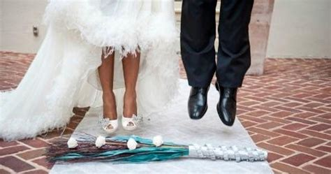 Wedding Ceremony Jumping The Broom by Afro Europe Is Jumping The Broom A Black American Tradition