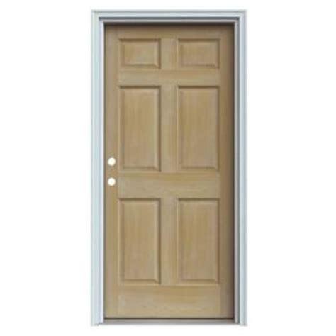 Exterior Door 6 Inch Jamb Jeld Wen 6 Panel Unfinished Auralast Pine Solid Wood Entry Door With Primed White Jamb Discontinued