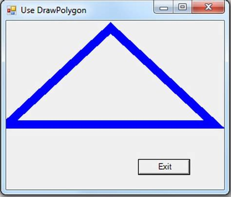 Drawing C Sharp by Drawpolygon And Drawellipse In F