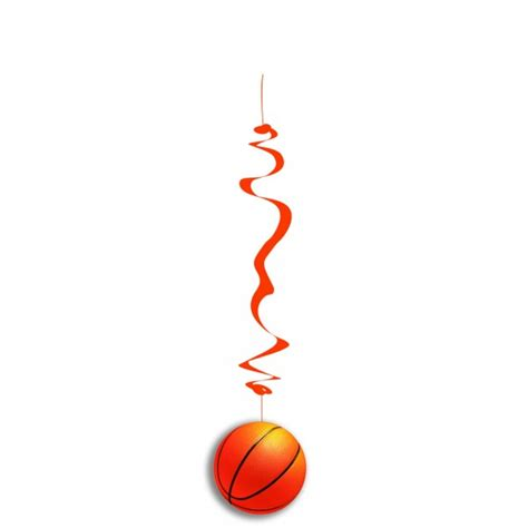 How To Make Hanging Paper Swirls - basketball hanging swirls