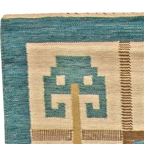 Weaved Rugs by Vintage Swedish Flat Weave Rug Signed W Bb5845 Ebay