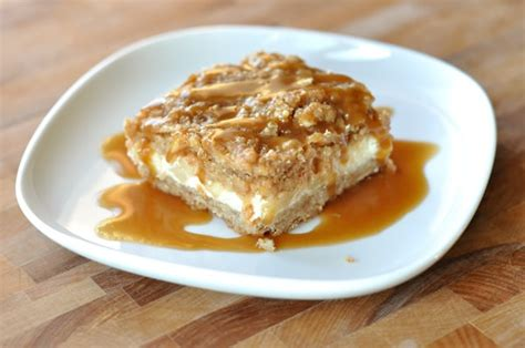 cheesecake topping bar caramel apple cheesecake bars with streusel
