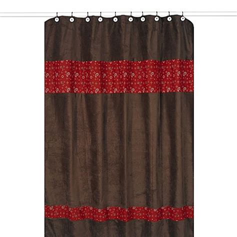 red and brown shower curtain buy curtains brown and red from bed bath beyond