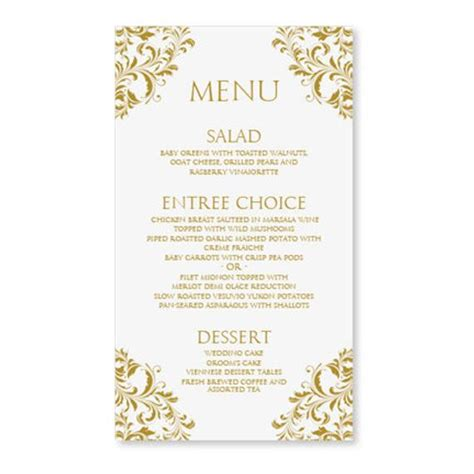 wedding menu cards templates for free wedding menu card template by diyweddingtemplates